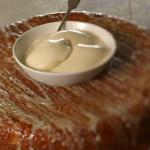 James Martin bourbon glazed monster doughnut with malted milk ice cream recipe on James Martin: Home Comforts