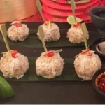 Ching's pork meatballs in sticky rice recipe on Lorraine