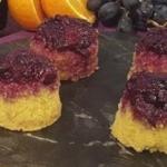 John Whaite black grape with rhubarb and orange puddings recipe on Lorraine