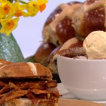 Phil Vickery hot cross buns like you've never seen before hot cross bun and butter pudding recipe on This Morning