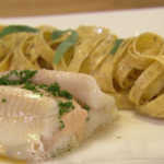 Rosemary Shrager sole amhuinnsuidhe with tagliatelle pasta recipe on Chopping Block