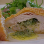 Rosemary Shrager chicken kiev with garlic butter  recipe on Chopping Block