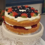 James Tanner Gluten-free strawberry Victoria Sponge recipe on Lorraine