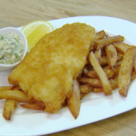 Rosemary Shrager beer battered fish and chips with tartar sauce recipe on Chopping Block