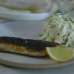 Tom Kerridge fried sea bass with dry spice rub recipe on The Food Detectives