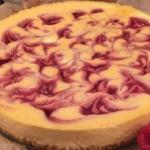 Dean Edwards Baked Raspberry Ripple Cheesecake recipe on Lorraine