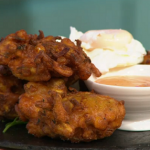 Simon Rimmer Courgette and Sweetcorn Fritters Recipe on Sunday Brunch