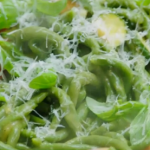 Jamie Oliver's spinach pici pasta recipe on Jamie's Super Food