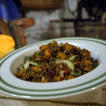 Gino's lentils and butternut squash salad with olive oil and lemon dressing recipe on Gino's Italian Escape: Hidden Italy