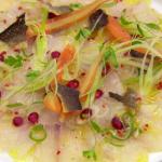 Monica Galetti sea bass ceviche with crispy skin recipe on MasterChef: The Professionals