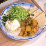 Phil Vickery braised spiced potatoes and spinach with flatbreads  recipe on This Morning