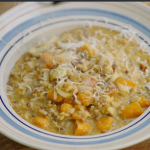 Jamie's squash with sausage and chicory risotto recipe on Jamie's Super Food