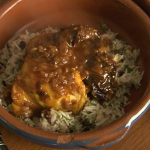 Rick Stein chicken with paprika, saffron and prunes recipe on Saturday Kitchen