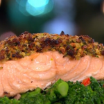 Gino's pistachio and honey crusted salmon recipe on This Morning