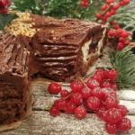 Andrew's classic Christmas yule log recipe on Lorraine