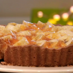 Darren McGrady banana flan with apricot  jam recipe on Royal Recipes with Michael Buerk
