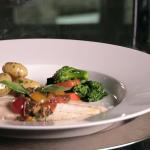Anton Mosimann steamed sea bass with a sauce vierge recipe