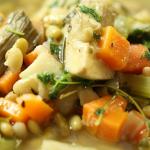 Nigel Slater artichoke casserole with herbs recipe on Nigel Slater's Dish of the Day