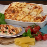 Gino's cannelloni alla margherita with sun-dried tomatoes and mozzarella recipe on This Morning