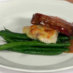 Anna's fillet of beef  Prince Albert with beans and Madeira jus on Royal Recipes