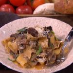 Dean's wild mushroom pasta dinner for under a fiver recipe on Lorraine