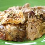 Nigel Slater slow roast leg of lamb with herb paste rub and creamy mash potatoes recipe