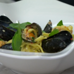 Rosemary Shrager seafood pasta recipe on Chopping Block