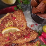 Nadia's sesame chicken with skinny fries recipe on Lorraine