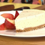 Sophie Michell Vanilla Cheesecake with White Peach and Honey recipe on Sunday Brunch