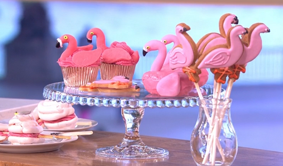 Juliet Sears flamingo bakes recipes on This Morning - The ...