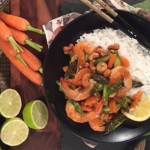 Ching's wok fried prawns and asparagus recipe on Lorraine