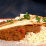 Sam Faiers sea bass madras curry recipe on Sunday Brunch
