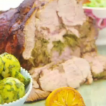 Nadia's herb stuffed lamb with spring cabbage recipe on Lorraine