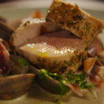 Simon Rimmer pork loin with clams recipe on Eat the Week with Iceland