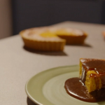 Simon Rimmer Pumpkin pie with caramel sauce recipe on Eat the Week with Iceland