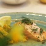 Nadia's  salmon in Prosecco recipe on Lorraine