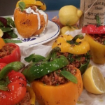 Tonia's Greek stuffed peppers recipe on Lorraine