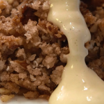 The Marks Family apple crumble with cardamom custard recipe