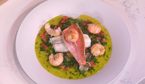James Martin Cornish fish feast with sauce vierge and ...