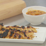 John Torode chicken satay with satay sauce recipe on Celebrity Masterchef