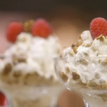 Mary Berry Cranachan with oats, raspberries and whisky recipe on Mary Berry's Country House
