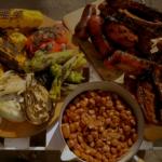 Gino's barbecued pork ribs, pork chops and beans recipe