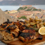 Gino's honey drizzle grilled chicken with rosemary and potatoes on Gino's Italian Coastal Escape