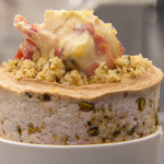 Monica Galetti pistachios and strawberry souffle with clotted cream recipe on MasterChef: The Professionals