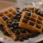 Nigella Lawson waffles with blueberries and syrup recipe on Nigella: At My Table