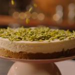 Nigella Lawson white chocolate cheesecake with gingernut recipe on Nigella: At My Table
