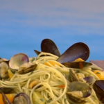 Gino's spaghetti vongole with clams and mussels recipe