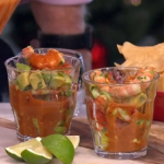 Rick Stein Christmas prawn cocktail with chipotle and lettuce recipe on This Morning