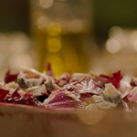Nigella Lawson Radicchio, chestnut and blue cheese winter salad with a orange, lime, mustard and honey dressing recipe