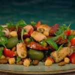 Gino's squid with spicy salami and bean salad recipe